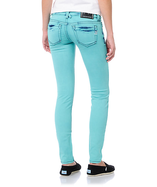 Hydraulic Indie Aqua Blue Jeggings