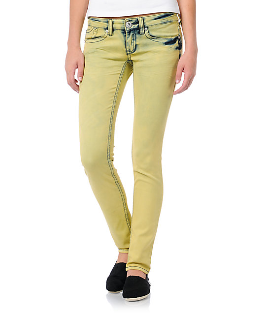 Hydraulic Indie Pale Lemon Yellow Jeggings