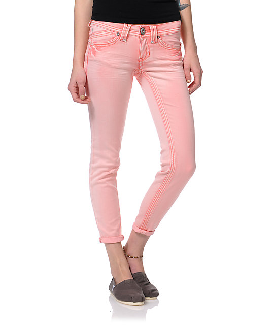 Hydraulic Melon Ankle Crop Capri Pants
