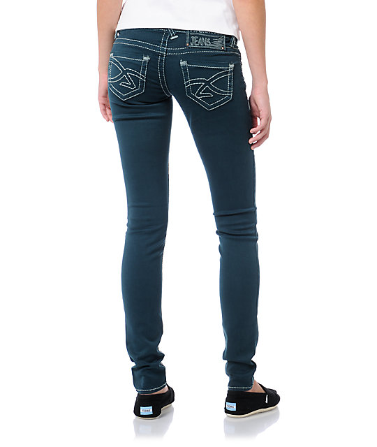 Hydraulic Ultra Dark Teal Jeggings