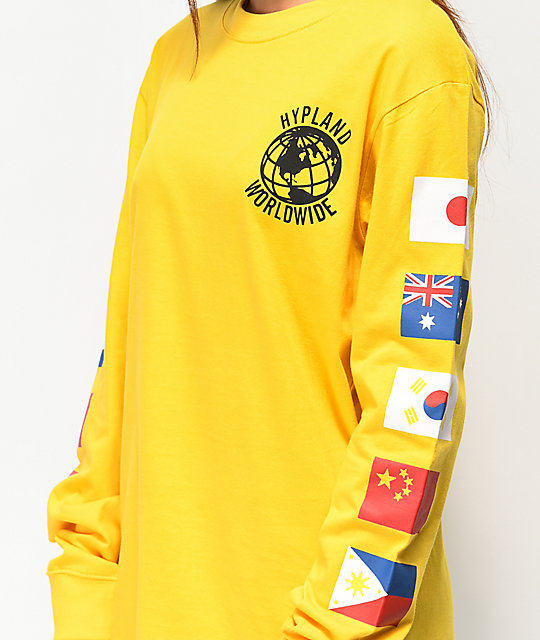 Hypland Worldwide Yellow Long Sleeve T-Shirt