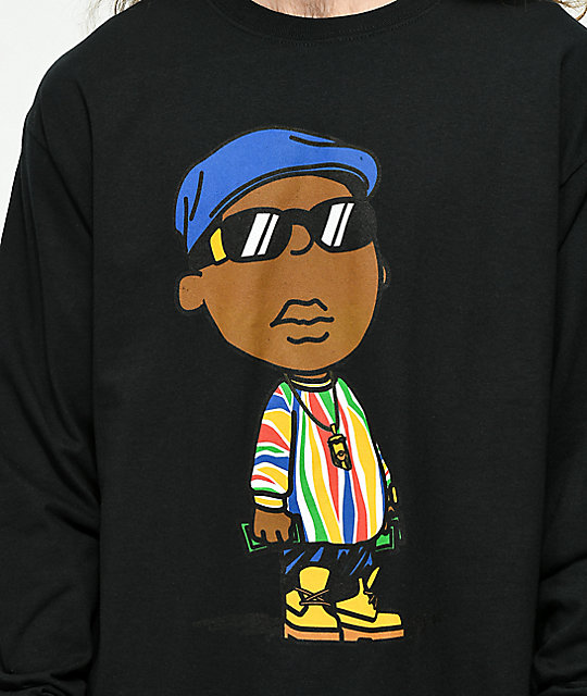 Hypnotize Notorious BIG Coogi Black Long Sleeve T-Shirt