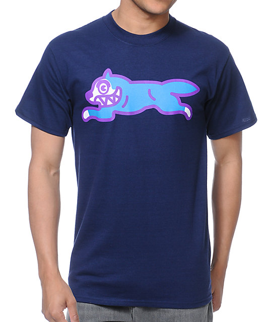 ICECREAM Running Dog Navy T-Shirt