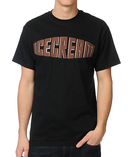 ICECREAM Sandwich Black T-Shirt