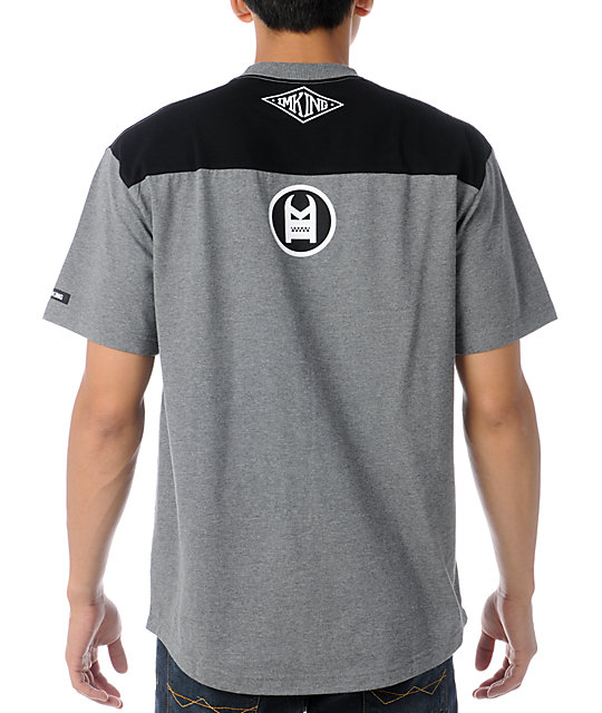 IMKing Charger Paneled Heather Grey T-Shirt
