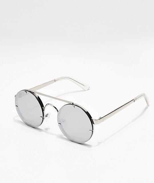 Mirrored Icon Silver Round Eyewear Sunglasses X80wkOPn