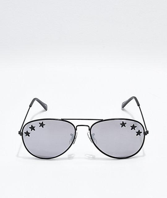adb259783a5 ... Icon Eyewear Triple Star Mirrored Aviator Sunglasses