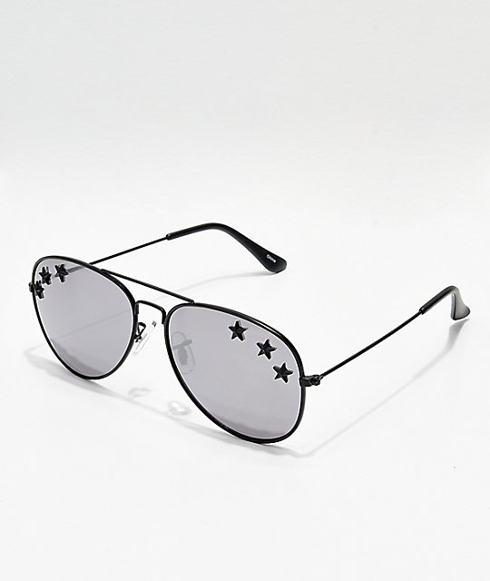 043359a49a24c Icon Eyewear Triple Star Mirrored Aviator Sunglasses
