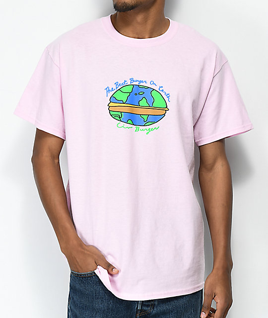 Illegal Civilization Best Burger Pink T-Shirt