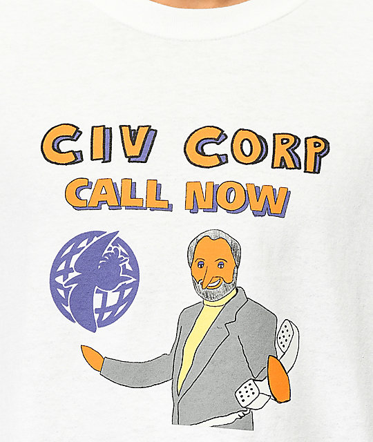 Illegal Civilization Call Now White T-Shirt