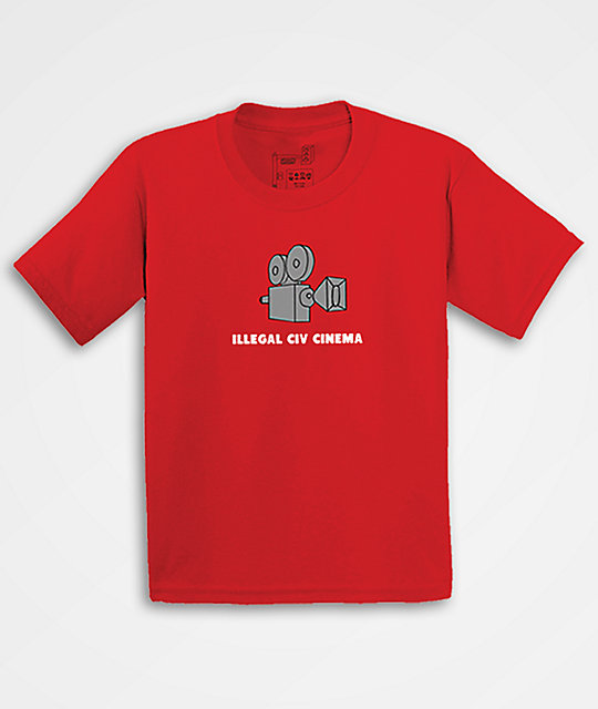 Illegal Civilization Cinema Red T-Shirt