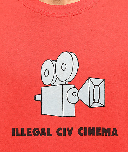 Illegal Civilization Cinema camiseta roja