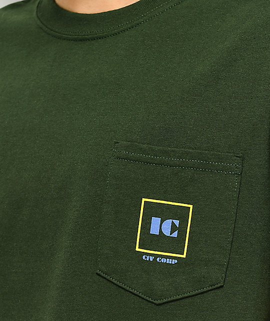 Illegal Civilization Corp Green Pocket T-Shirt