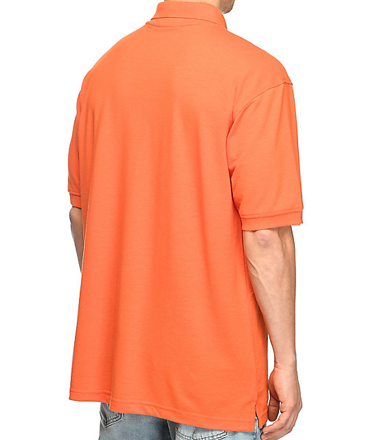 Illegal Civilization Dino Orange Polo Shirt