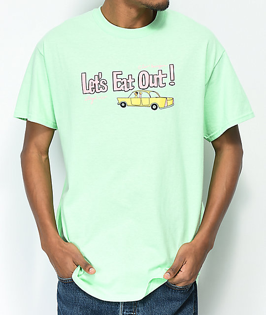 Illegal Civilization Let's Eat Out Mint T-Shirt