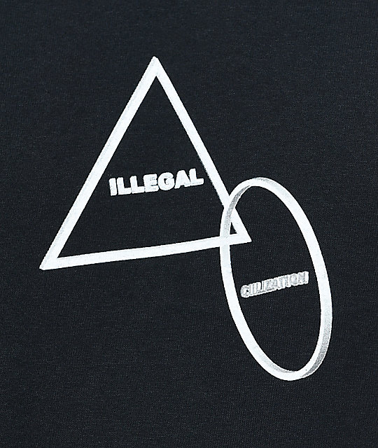 Illegal Civilization Triangle camiseta negra