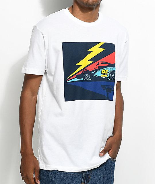 cf3a11f64 ... illest x disney s cars 3 lightning white t shirt zumiez ...