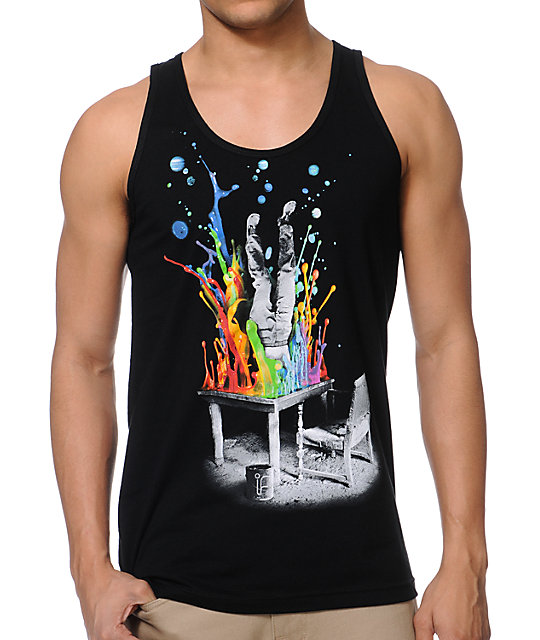 Imaginary Foundation Plunge Black Tank Top