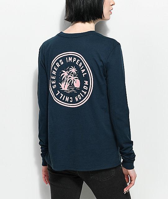 9a4399c89fb Imperial Motion Chill Seeker Navy Long Sleeve T-Shirt   Zumiez
