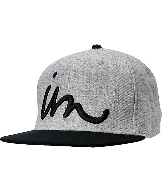 Imperial Motion Curser Grey & Black Snapback Hat