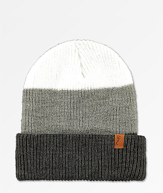 Imperial Motion Divide Charcoal, Grey & White Beanie