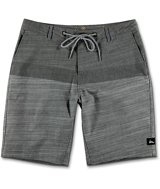Imperial Motion Hayworth Grey Hybrid Shorts