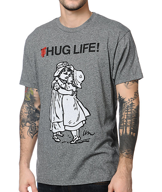 Imperial Motion Hug Life Heather Black T-Shirt