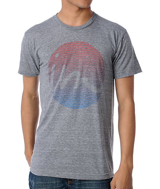 Imperial Motion Ringer Fade Heather Grey T-Shirt
