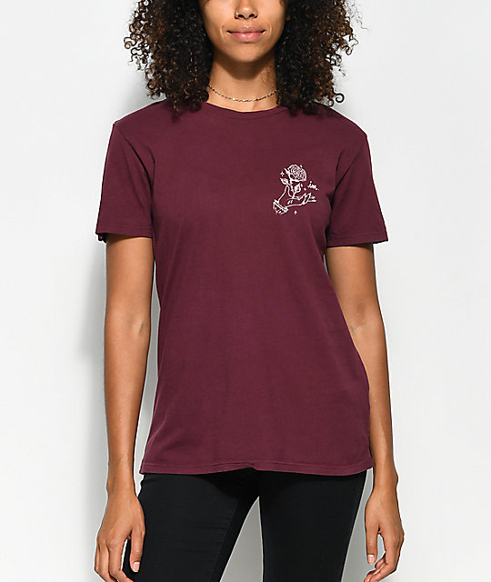 Imperial Motion Rose Burgundy T-Shirt