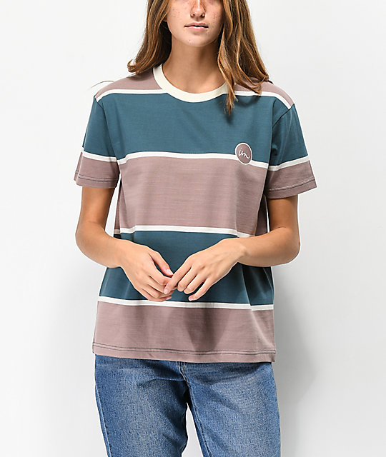Imperial Motion Rounder Denim Blue Striped T-Shirt