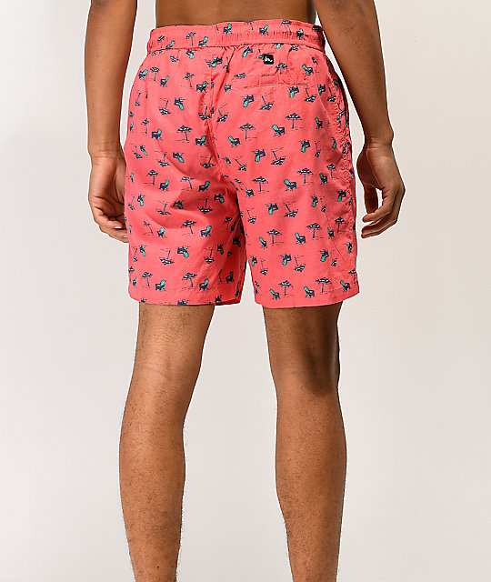 Imperial Motion Seeker Tub Volley shorts de color coral