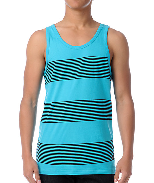 Imperial Motion Timeline Turquoise Tank Top