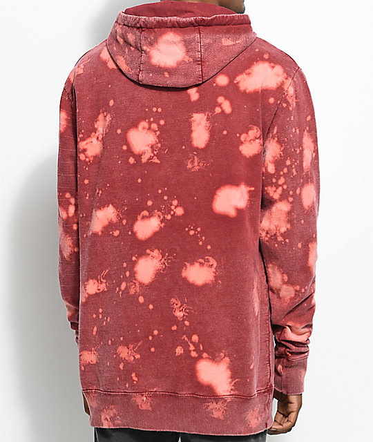 Imperial Motion Underline Acid Oxblood Hoodie