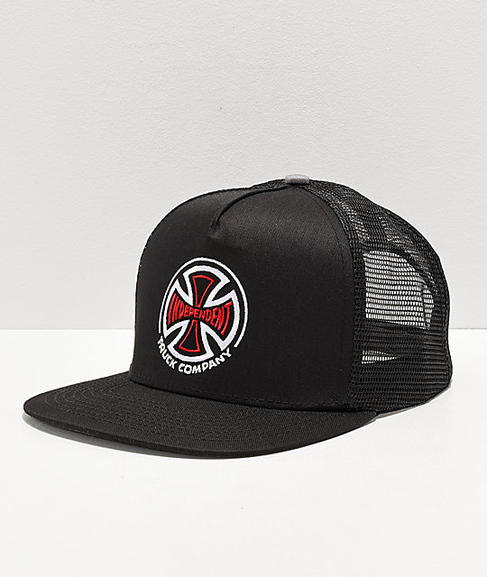 Independent Indy Black & Red Cross Trucker Hat