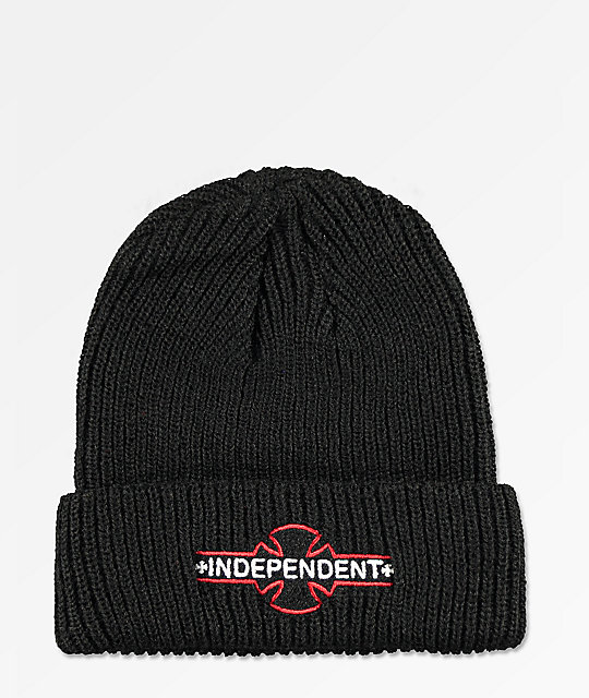 Independent Logo Black & Red Beanie