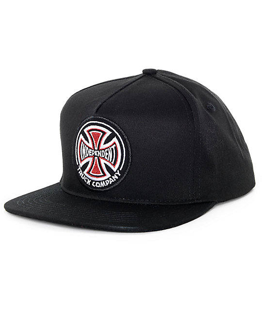 713e1acc9ce Independent Patch Black Snapback Hat