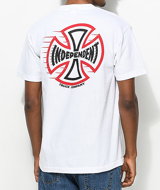 Independent Speeding Cross camiseta blanca