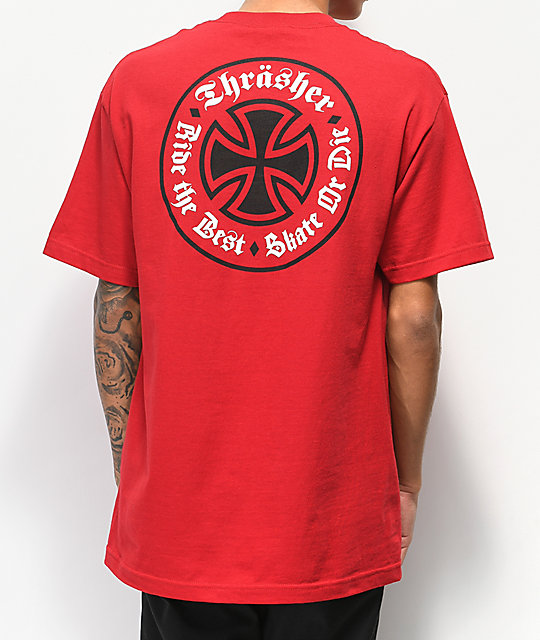 e8f3c0d30f10 Independent x Thrasher Oath Red T-Shirt
