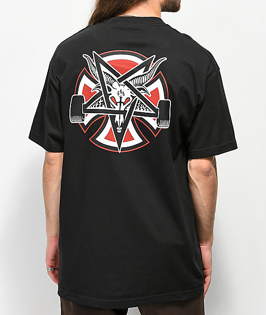 Independent x Thrasher Pentagram Black T-Shirt