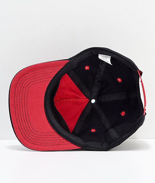 Independent x Thrasher Pentagram Red & Black Snapback Hat