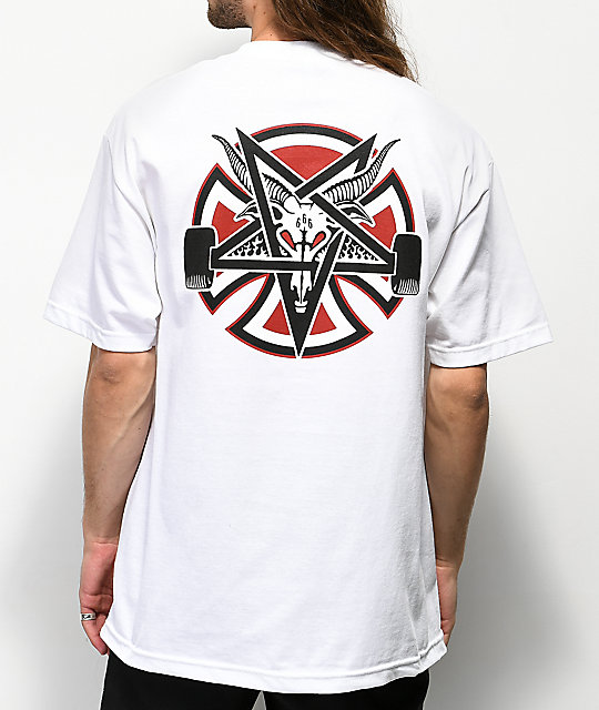 Independent x Thrasher Pentagram White T-Shirt