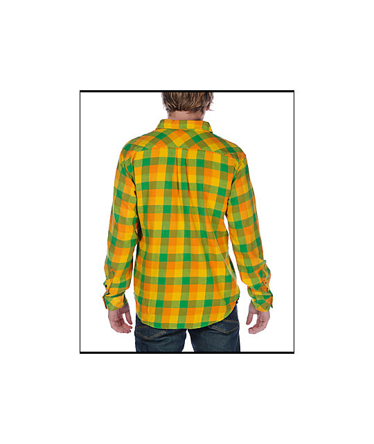 Insight The Pervert Green Checkered Flannel Shirt