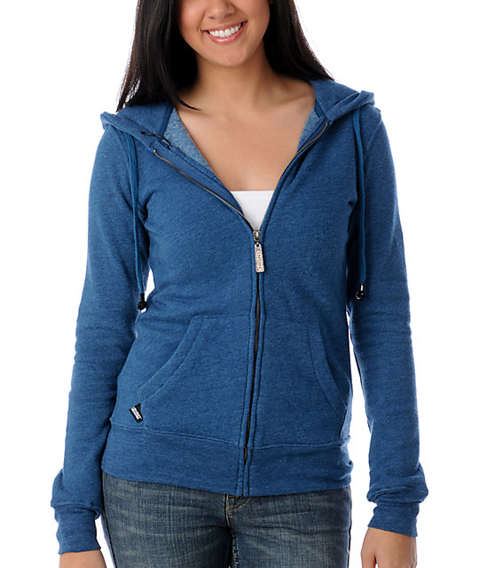 Insound Heather Blue Full Zip Up Hoodie