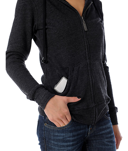 Insound Heather Charcoal Full Zip Up Hoodie