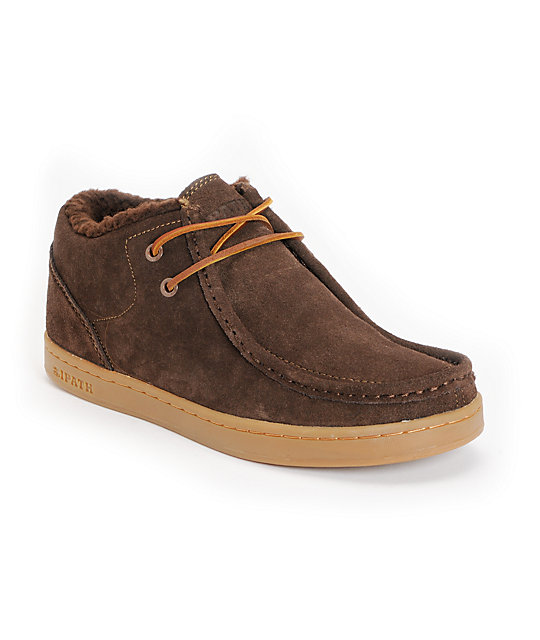 Ipath Cat Shearling Coffee Suede Shoes
