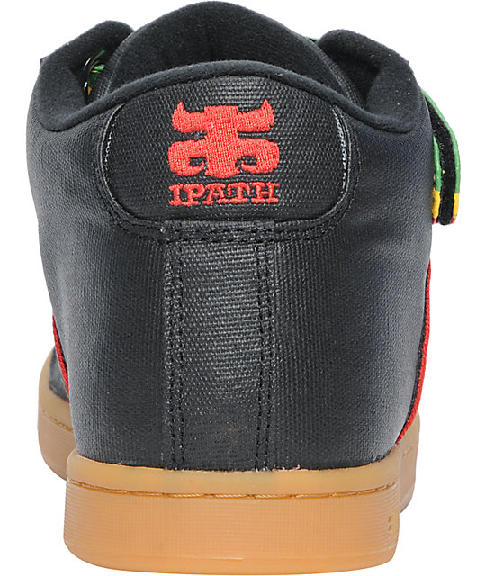 Ipath Grasshopper Black Wax Hemp & Rasta Skate Shoes