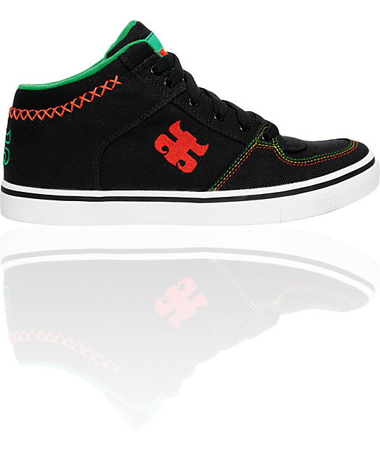 Ipath Reed Black Rasta Hemp Shoes