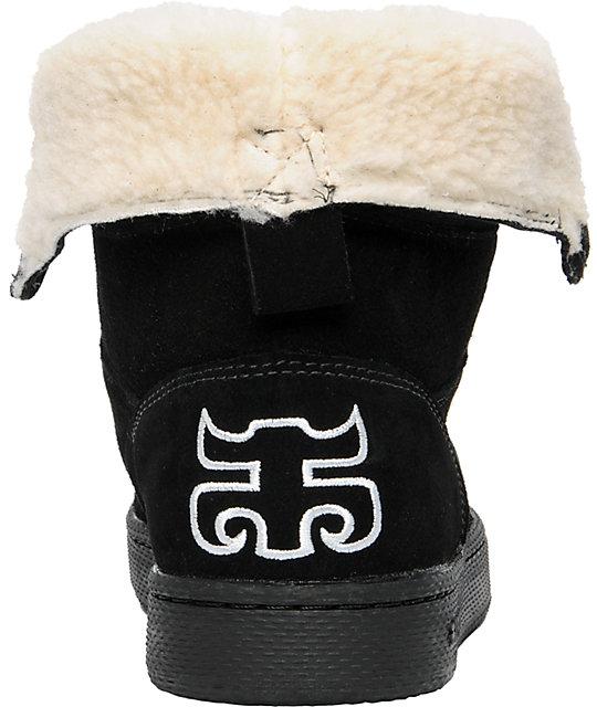 e6de5fe2c35de1 Ipath Shearling Black Boot  Ipath Shearling Black Boot ...