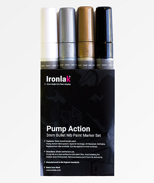 Ironlak 4 Pack Creative Paint Markers