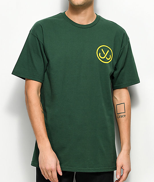 JSLV Hooks Select camiseta verde y color amarillo